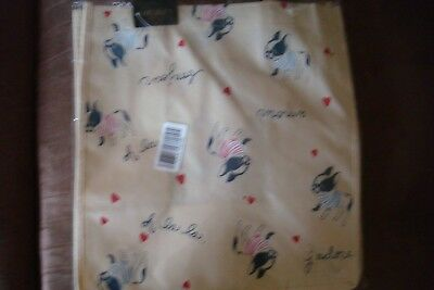 NWT Forever 21 French Bulldogs with Stripe Tops Tote bag