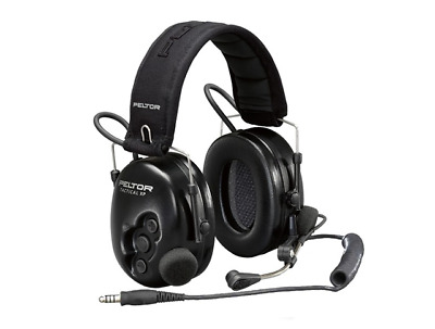 3M Tactical PRO Electronic Tactical Headset W / Boom Mic Connects Two-Way Radios