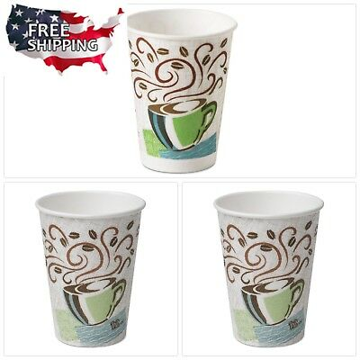 Dixie PerfecTouch 12oz Insulated Disposable Coffee Paper Hot Cone Cups 500 Piece