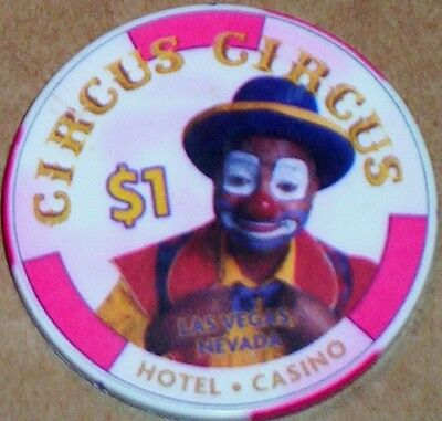 Old $1 CIRCUS CIRCUS Casino Poker Chip Vintage Antique Chipco Mold Las Vegas NV