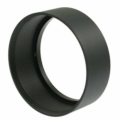 Replacement Screw in Mount 55mm Camera Metal Lens Hood Black L7O3