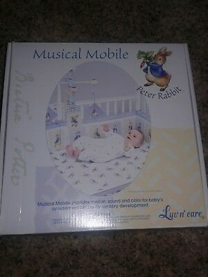 Luv N' Care, Beatrix Potter Peter Rabbit  Mobile, Baby Shower, Boy Gift, New.