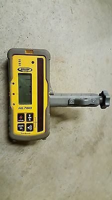 Used Spectra Precision HL760 Laser Receiver and Rod Clamp for rotary laser.