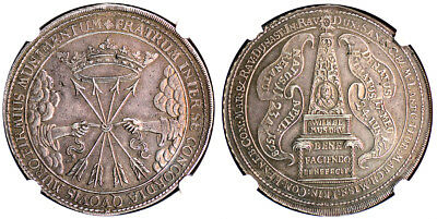 1662-CR Sax-Weimar Germany Dav-7550.2 Death of Wilhelm IV Taler NGC MS62