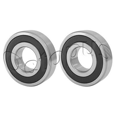 2 Pcs Premium 6801 2RS ABEC3 Rubber Sealed Deep Groove Ball Bearing 12x21x5mm