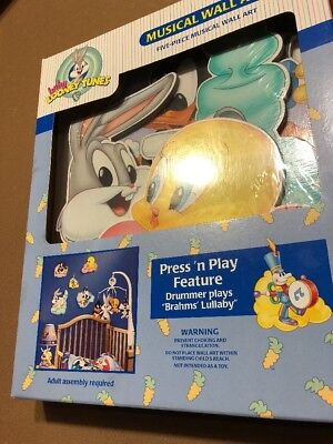 Vintage NEW 1999 Baby Looney Tunes Musical Wall Art - Brahms' Lullaby