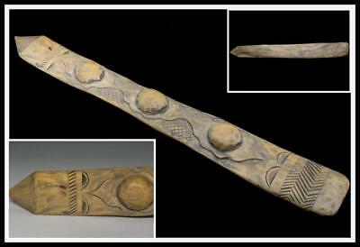 "AIN19  Japanese Antique Ainu wooden ceremonial implement ""Iku-pasuy"" / Japan"