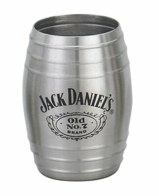 Jack Daniels Medium Barrel Shot Glass Stainless Steel Old No. 7 Swing Whiskey