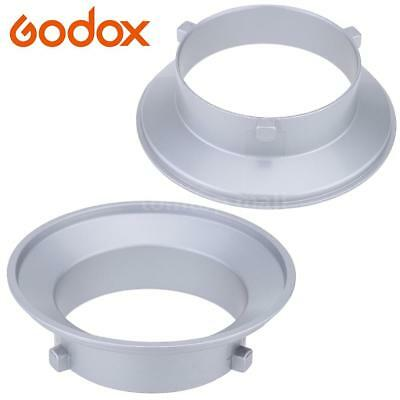 Godox 144mm Diameter Mounting Flange Ring Adapter Hood for Flash Fits for Bowens