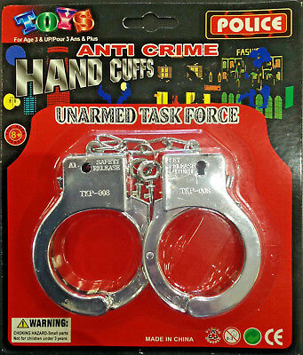 Plastic Toy Handcuffs Police Party Supplies Costume Kid Hand Cuffs Access 19792