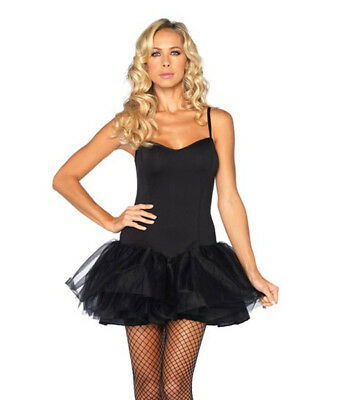 50s Black Tutu Skirt Dress Dancing Costume Outfit Dance Party Dance Wear  41-536