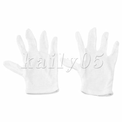 White Cotton Gloves for Woodwind Instruments Durable Unisex
