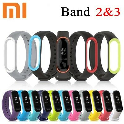 For Xiaomi Mi Band 2 3 Adjustable Bangle Soft Silicone Strap Wristband Bracelets