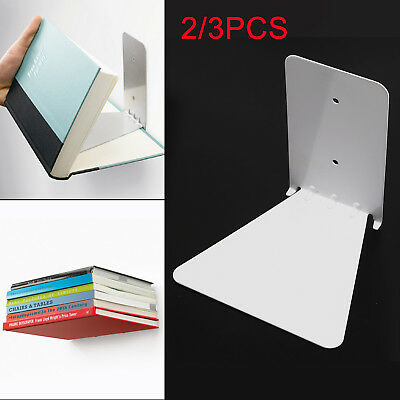2/3pc Conceal Invisible Bookshelf Wall Mounted Floating Shelf Shelves Storage
