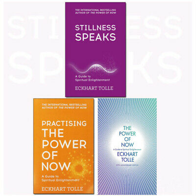 The Power of Now Stillness Speaks By Eckhart Tolle 3 Books Collection Set NEW