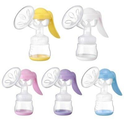 Single Manual Breast Pump Breast Feeding Baby Nipple Suction Milk Bottle 150ml