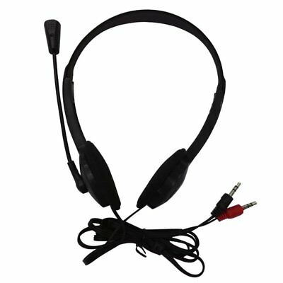 Single Side Headset Headphone Dual Channel Earphone 3 5mm Plug For