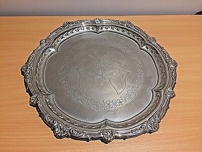 Vintage Ranleigh Silver Plated Serving Tray 36 cm in Diameter, 700 g