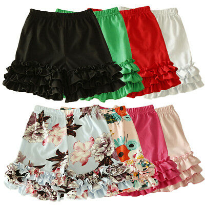 Toddler Kid Baby Girl Icing Ruffle Cotton Pants Bloomers Shorts Trousers Bottoms