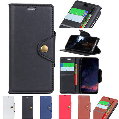 Flip Leather Copper Buckle Wallet Case Cover+Tempered Glss f LG Stylo 4 K11 2018