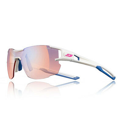 42aeb83a26 Julbo Unisex Areolite Zebra Light Red Sunglasses Blue White Sports Running