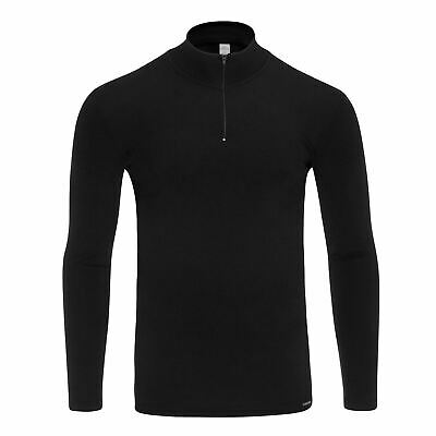 Doreanse Men's 2975 Thermal Zipped neck Long Sleeved Shirt