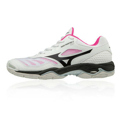 Mizuno Womens Wave Phantom 2 NB Indoor Court Shoes White Sports Badminton