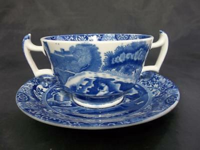 VINTAGE Spode Blue Italian Hot Chocolate Cup and saucer                   S1021