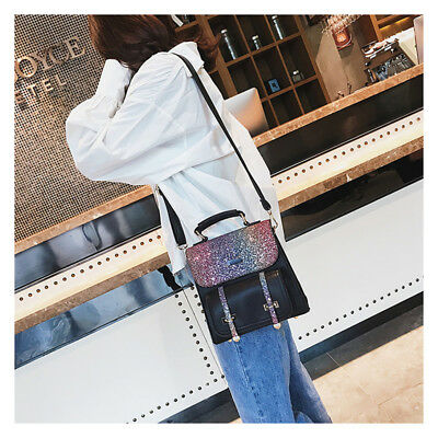 Shiny Small Backpacks Female Sequins PU Leather Casual Girls Travel Bags Fashion