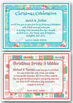 Personalised Christmas Party Drinks Celebration