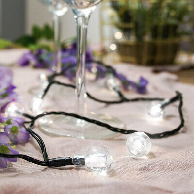 5-10m Outdoor Battery Power LED Berry Fairy Lights with Timer | Garden Christmas