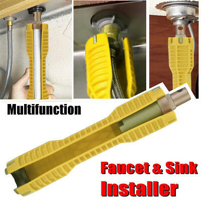 Professional Faucet and Sink Installer Install Tool Kitchen Bathroom RED RI HG