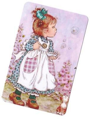 Swap Card -  Blank Back ~  Bubble Girl  ~ Newer Version Sarah Kay Style