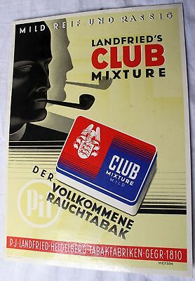 Altes Werbeschild Landfried Club Mixture von ca.1930