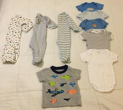 Mixed Lot 9 Piece Infant Boy Clothes 3-6 Mos - Gerber/Circo/BabiesRus