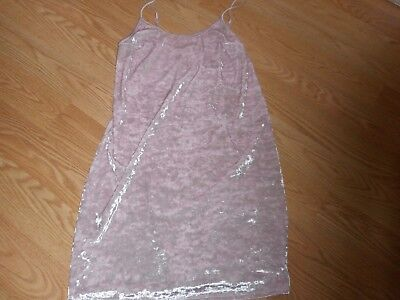 Victoria's Secret Dream Angels Size Xs/s Pink Crushed Velvet Slip Nwt!!!