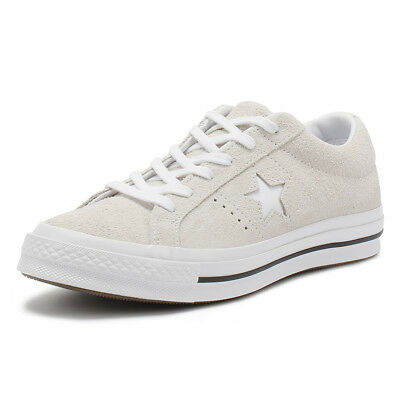 bcfcae3e796 Converse One Star Mens Trainers White Suede Lace Up Ox Sport Casual Shoes