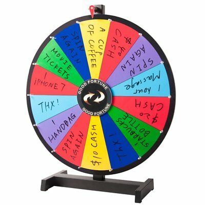 "24"" Editable Dry Erase Color Prize Wheel of Fortune Spinning Game Tradeshow WX"