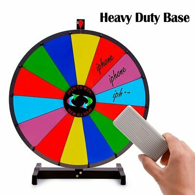 """24"""" Tabletop Prize Wheel Spinner 14 Slot Color Dry Erase Trade Show Spin Game WE"""