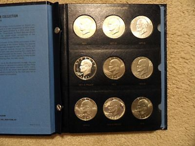 Complete Eisenhower Dollar Set 32 Coins All Uncirculated Silver And Proofs