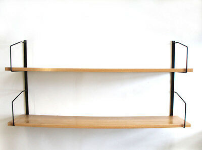 Metall Holz String Regal Wandregal Mid Century Design Wall Shelf 1960S Vintage