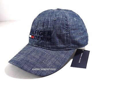 5711cbe33c1 TOMMY HILFIGER NEW Men s Logo Hat cap Baseball Cap One Size Strap Back Nwt  Denim -  21.95