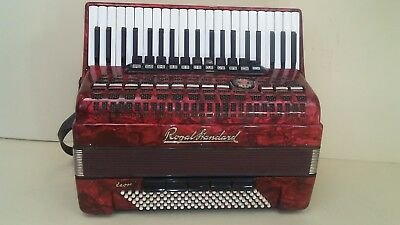 German Piano Accordion Fisarmonica  Royal Standard Meteor 120 Bass With Case