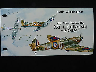 Isle Of Man Stamp Presentation Pack. 1990. The Battle Of Britain. 5.9.90