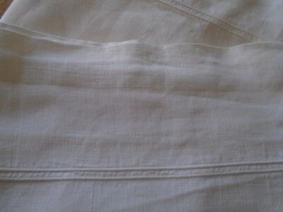 Pair Of Vintage Irish Linen Pillowcases - Whipped Cord  Hems - 18 X 36 Inches