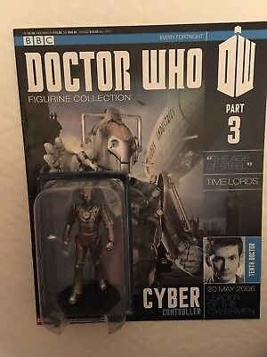 Bbc Series Doctor Who Dr Issue 3 Cyber Controller Eaglemoss Figurine + Magazine