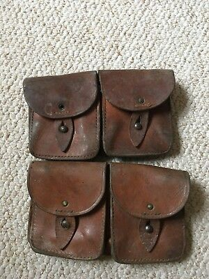 Vintage French Military, Leather Ammo Pouches French Army Mas Ammo Pouches