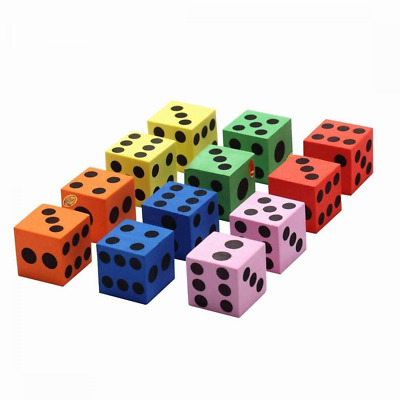 Mixed Color Foam Dice Building Block Toy Safe Playing for Kids 3.7cm 12pcs
