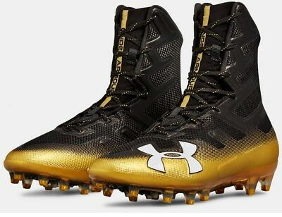 Under Armour Men Highlight MC Football Lacrosse Cleats Shoes 3000177 Black/Gold