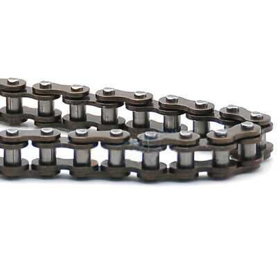 "#25 Roller Chain 25H-82L Pitch 1/4"" 6.35mm Single Strand Roller Chain x 0.5M"